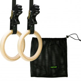 Tunturi Turnringe Gym Rings aus Holz