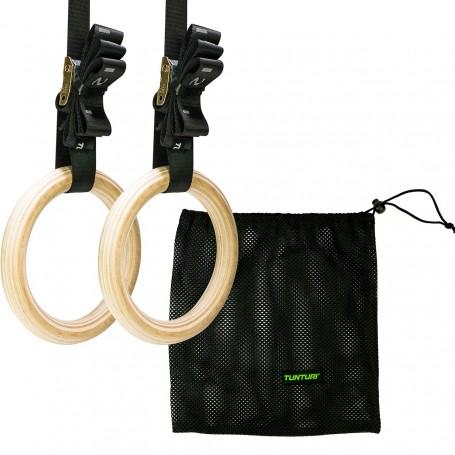 Tunturi Turnringe Gym Rings aus Holz